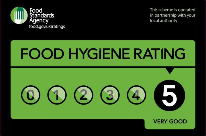 FOOD HYGIENE RATING - 5 - VERY GOOD